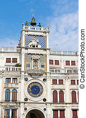 Astronomical clock at San Marco Square in Venice (Italy).