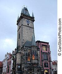 Astronomical clock building - View of astronomical clock ...