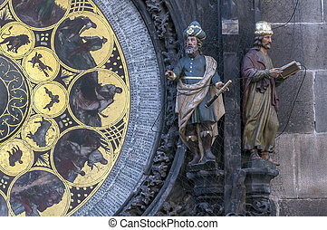 Astronomical clock calendar. - Calendar view of the...