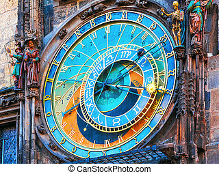 Astronomical clock in Prague, Czech Republic - Scenic view...