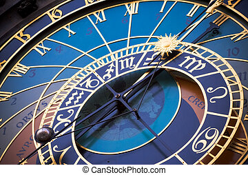 Astronomical clock - Old astronomical clock in the center ...