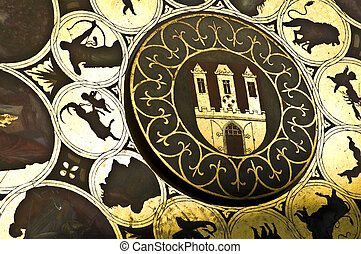 Astronomical clock - detail of the famous astronomical clock...