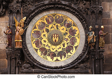 Astronomical Clock - Ancient astronomical Clock in Prague on...