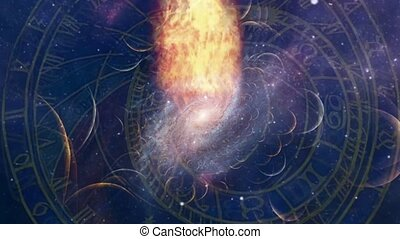 Astronomical Clock. Planets and Galaxies