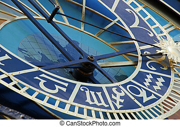 Astronomical clock - Detail of astronomical clock in Prague,...