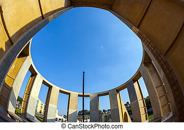 Astronomical instrument at Jantar Mantar observatory -...