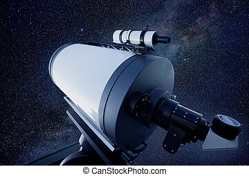 astronomical observatory telescope stars night sky