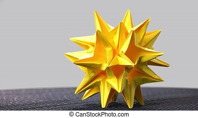 Astronomical stellated paper figure. Celestial body origami....