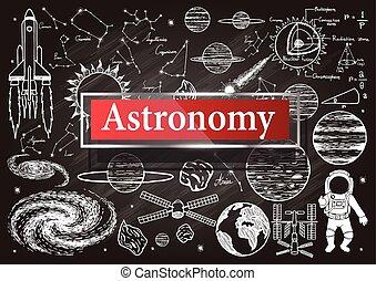 astronomie, chalkboard