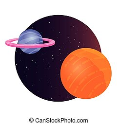 astronomie, planeet, melkweg, ruimte