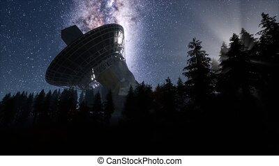 astronomique, ciel, sous, observatoire, nuit, stars., ...