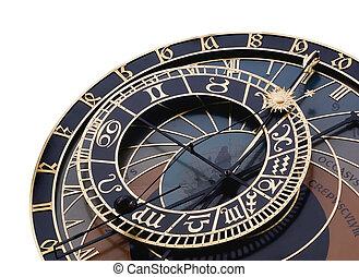 astronomique, détail, horloge