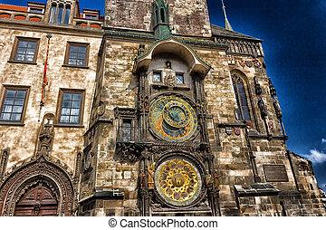 astronomique, prague, horloge