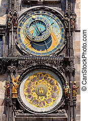 astronomisch, clock., prague.