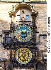 astronomisch, clock., prague.