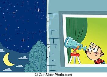 astronomo, giovane