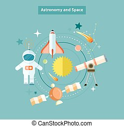 Astronomy and Space Web Page Design
