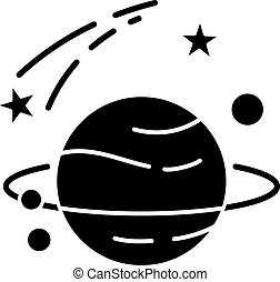 Astronomy black glyph icon