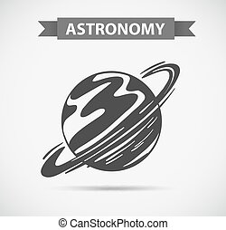 Astronomy logo on grey background