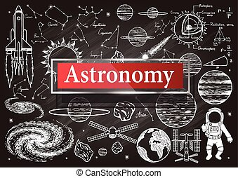 Astronomy on chalkboard