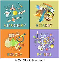 Astronomy, Physics, Geology, Biology Graphics