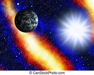 Space and astronomy. A congestion of stars and Earth