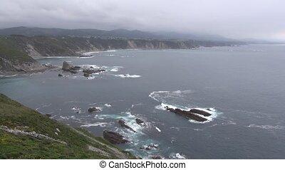 Asturias cliff 30 - view of coastline in Asturias at Spain...