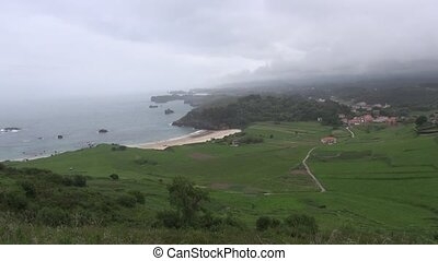 Asturias cloudy coast 30 - view of coastline in Asturias at...