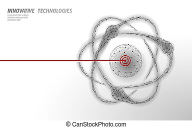 asunto, ilustración, laboratorio, ciencia, potencia, vector, átomo, 3d, micro, acelerador, investigación, símbolo, análisis, moderno, concepto, molecular, partícula, design., collider., física, atómico