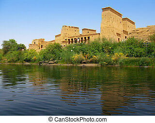 Aswan, Egypt: The amazing Temple of Isis at Philae island in...