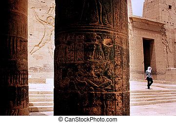 aswan, isis, 寺院, philae