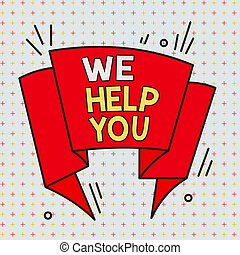 asymétrique, concept, assistance, multicolour, nous, texte, modèle, signification, boîte, inégal, format, design., objet, client, contour, formé, you., service, écriture, offrande, soutien, attention, aide