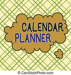 asymétrique, projection, calendrier, écriture, showcasing, multicolour, ou, planner., modèle, activités, être, inégal, business, design., objet, formé, photo, complété, tâche, devoir, horaire, note