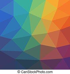 asymétrique, triangles., résumé, fond, coloré