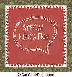 asymetryczny, szczególny, pokaz, education., studenci, tekst...