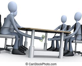 asztal, üzlet, alatt