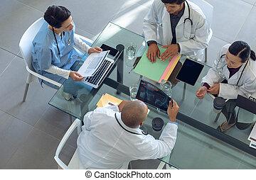 asztal, befog, más, kórház, fejteget, orvosi, mindegyik