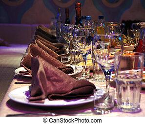asztal, díszebéd