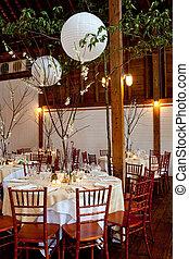 asztal, esküvő