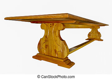 asztal, mahagóni, erdő
