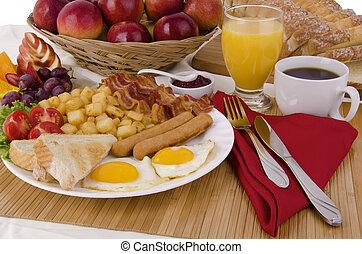 asztal, reggeli