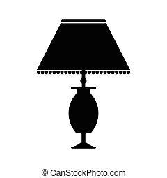 asztali lámpa, ikon