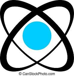 atómico, industrial, símbolo