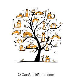 ?at, árvore familiar, para, seu, desenho