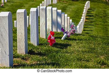 at arlington cemetary - Graves in Arlington Cemetery in...