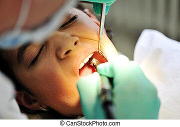 At dentist's room