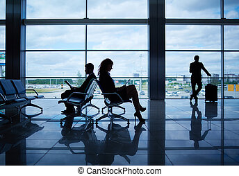 At departure lounge