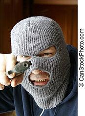 At gunpoint - Gunman holding YOU at gunpoint