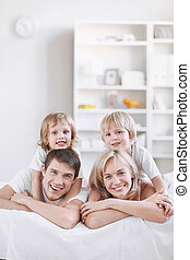 At home - Young families with children at home