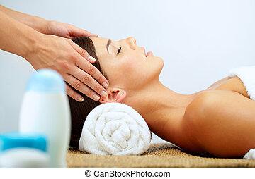 At massage